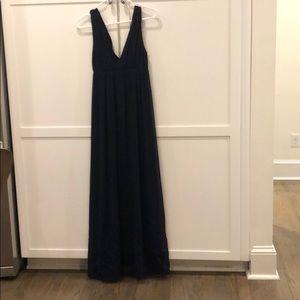 Navy Blue Alice & Olivia 100% silk dress